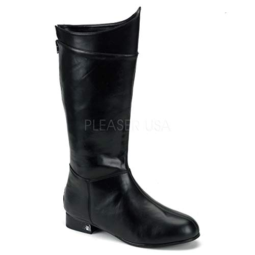 Funtasma by Pleaser Men's Halloween Hero-100,Black,M (US Men's 10-11 M)