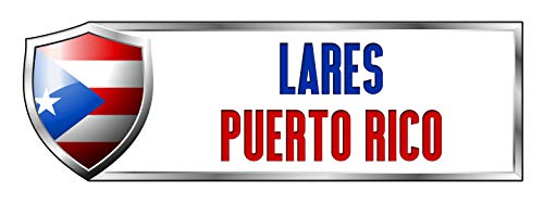 ERTO RICO Puerto Rico Country Nation Sticker Decal Car Laptop Wall Sticker Decal 3'by9' (Small) or 4'by12' (Large) ()
