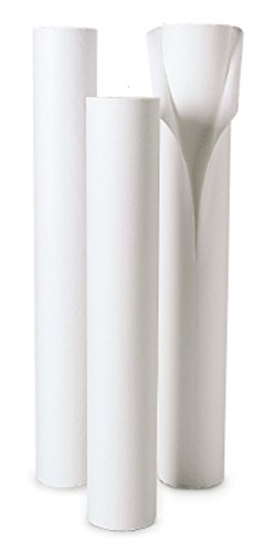 McKesson 18-6218 Table Paper, Crepe/Poly with Perf, White, 18