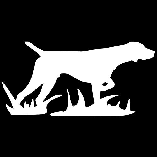 Cool Hunting Dog Car Sticker Styling Decal Bumper Window Laptop Wall Decoration - White
