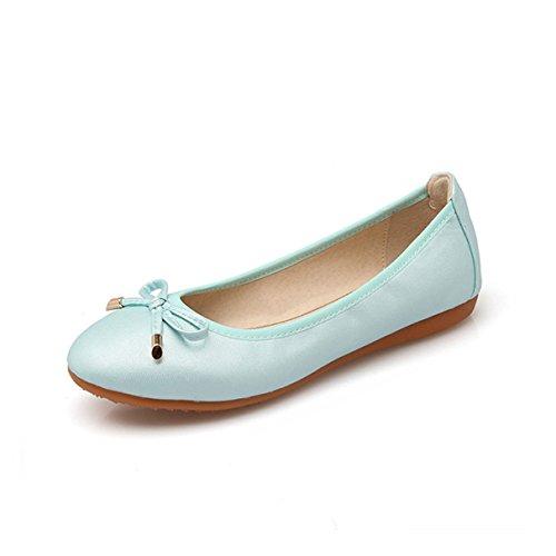Women Foldable Ballet Flats, Fold up Round Toe Bowknot Slip On Shoes -