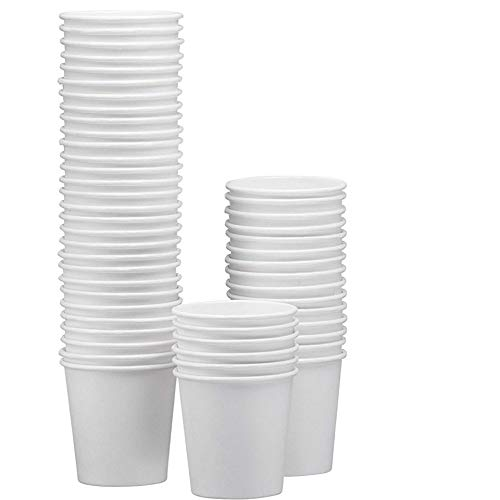 White Paper Disposable Cups – Hot/Cold Beverage Drinking Cup for Water, Juice, Coffee or Tea – Ideal for Water Coolers, Party, or Coffee On the Go' ()