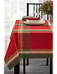 Holiday Legacy Yarn dyed Christmas Tablecloth (Multi, 60