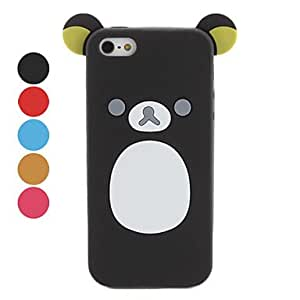 ZL Little Bear Design Soft Case for iPhone 5/5S (Assorted Colors) , Red