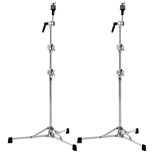 DW 6710 Straight Cymbal Stand Flat Base (2 Pack Bundle)