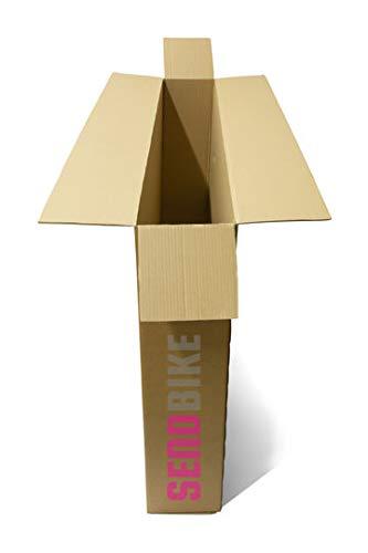Caja de cartón para bicicleta, caja de transporte + papel de burbujas grande y cinta: Amazon.es: Oficina y papelería