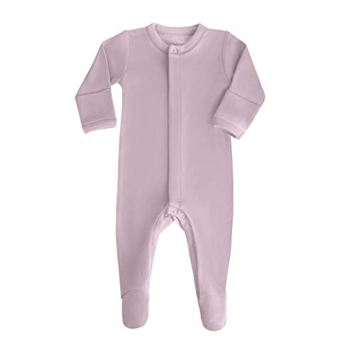 (bonamy Baby Unisex Organic Cotton Footie Sleeper with Mittens-Clothes for Boys and Girls with Long Sleeves)