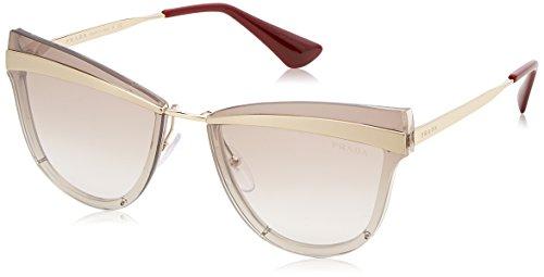 Prada Women's 0PR 12US Beige Marrone Chiaro/Gradient Brown Mirror Silver One ()