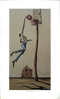 ''High Aspirations'' print by Ernie Barnes 22 x 11 in.
