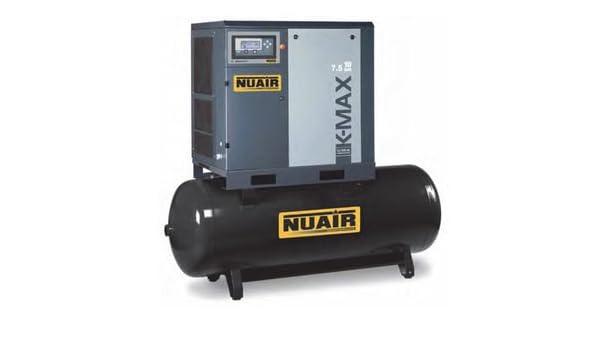 Compresor de aire de tornillo Silencioso con sécheur integrado 500 litros 10 cv NuAir: Amazon.es: Bricolaje y herramientas