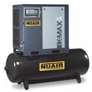Compresor de aire de tornillo Silencioso con sécheur integrado 500 litros 10 cv NuAir