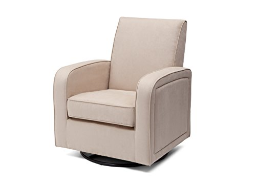 Delta Furniture Clermont Upholstered Glider Swivel Rocker Chair, Ecru by Delta Children