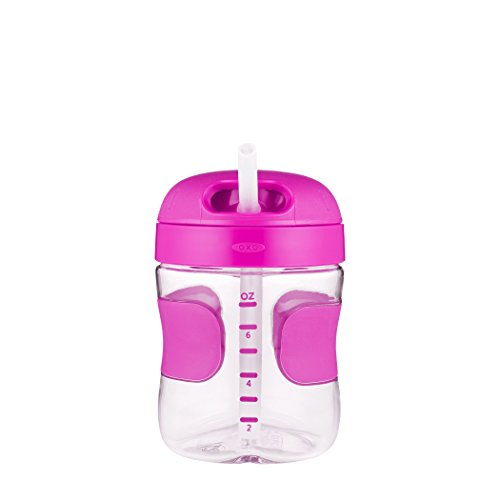 OXO Tot Twist Lid Straw Cup (7 oz.) - Pink by OXO (Image #3)