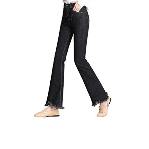 Pantaloni Sfsf Cerniera Selvaggio Pulsante Donna Tromba Modellare Cowboy Da Jeans Sospesi Slim Vestibilità Micro I Sottile Moda Con Jeans Ornamenti 27 Elasticizzati Tendenza rwqTrPnvR
