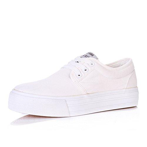 verano de Zapatos suela de de muchachas las B Zapato gruesos de ocio Zapatos pastel de lona puro de xYqSqdrwB6