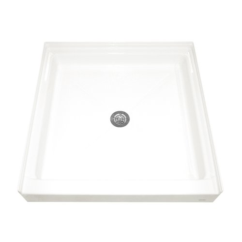 American Standard 3636ST.020 36-by-36-Inch Single-Threshold Shower Base with Integral Water Retention and Tiling Flange, (Single Threshold Rectangular Shower Base)