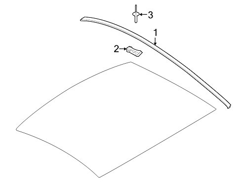 Genuine Ford 5R3Z-6351728-AAA Roof Side Trim Molding