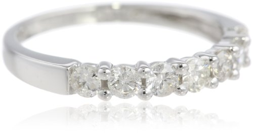 14k White Gold 7-Stone Shared-Prong Diamond Ring (1/2 cttw, I-J Color, I1-I2 Clarity), Size 9