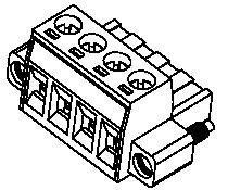Pluggable Terminal Blocks 5.08MM EURO PLG 04P RA SCREW (10 pieces)
