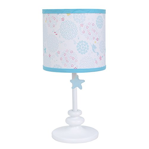(Disney Ariel Sea Princess Lamp Base with Shade, Blue/White/Gold/Pink)