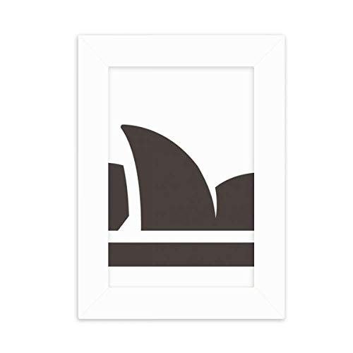 (DIYthinker Australia City Landmark Sydney Opera House Desktop Photo Frame Picture White Art Painting 5x7 inch)