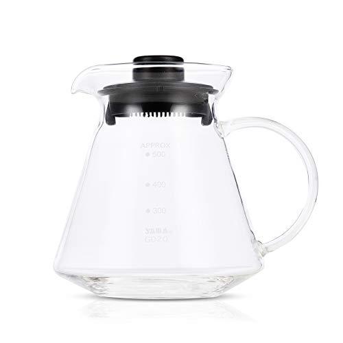 Yama Glass GD-20 Universal Pour Over Coffee and Tea Decanter, 20 oz