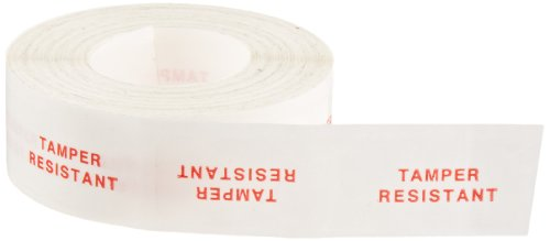 Roll Products 113-0002 Transparent Secure Lock Label, Legend