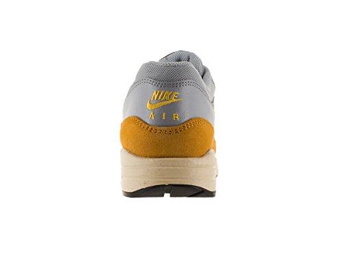 Nike Womens Air Max 1 Scarpe Da Corsa Essenziali Lupo Grigio / Foglia Oro / Grigio Scuro / Varsity Ma