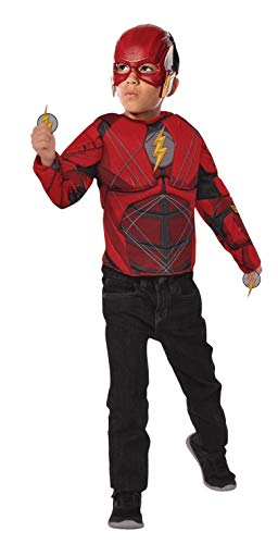 Imagine by Rubie's Boys Justice League Child's The Flash Set with Flip N' Reveal Lightning Bolts Costume, As Shown, Small