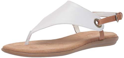 Aerosoles Women's in Conchlusion Flat Sandal, WHITE COMBINATION, 8.5 M US