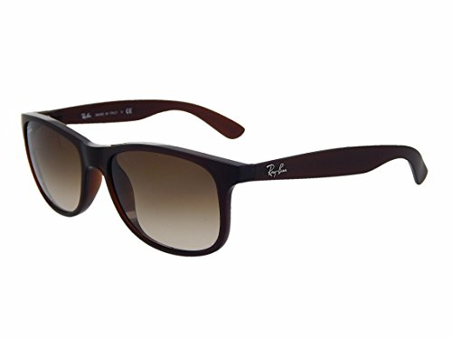 New Ray Ban Andy RB4202 607313 Brown/ Brown Gradient 55mm Sunglasses (Ban Rb4202 Ray Sunglasses)