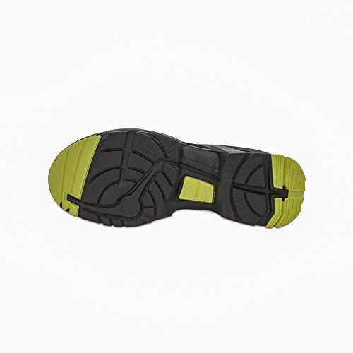 """Uvex seguridad para/zapato de trabajo """"one"""" 8514 S1P, negro/Color, ancho: 11, falleció. Tamaños negro - Schwarz/Lime"""