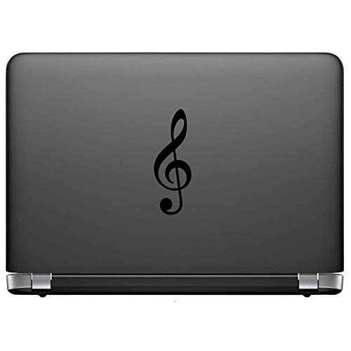 Creative Concept Ideas Treble Clef Music Staff CCI Decal Vinyl Sticker Cars Trucks Vans Walls Laptop Black 5.5 x 2.0 in CCI2254 -