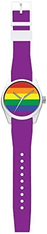 40N6.1MP 40NINE Rainbow Pride 43MM Watch, Purple Strap