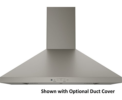 "GE Profile JVW5301EJES-Slate 30"" Wall-Mount Pyramid Chimney Hood with 350 CFM Venting System"