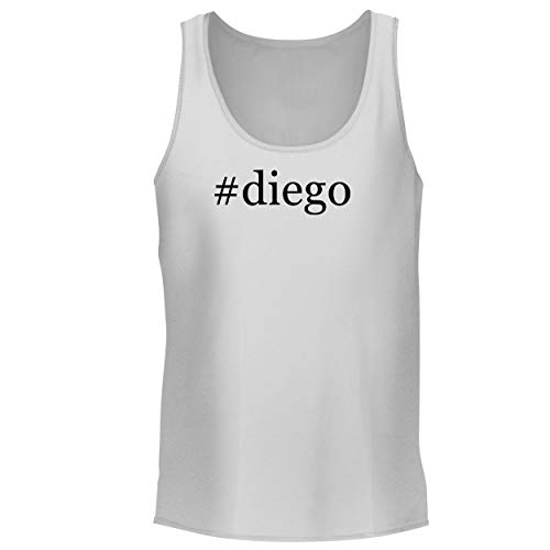 BH Cool Designs #Diego - Men's Graphic Tank Top, White, Large