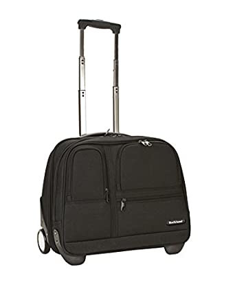 Amazon.com | Rockland Luggage Rolling Computer Case, Black, Medium ...