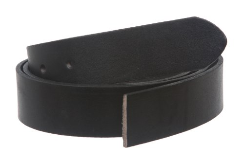 Straight Grain (1 1/4 Inch (33mm) Cut-to-Fit Top Grain Cowhide Plain Straight Leather Belt Strap Size: (Up to 44