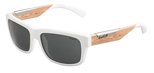 Bolle Jude Sunglasses Matte White/Wood, - Sunglasses Jude Bolle