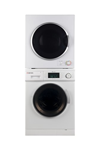Sekido Stackable Compact Super White Washer SK 824 and Electric Venting Dryer SK 850 Set of the latest models along with 13lb load capacity very much user friendly with Delay Start Option (Stacked Washer And Dryer)