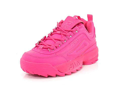Fila Women's Disruptor II Premium Sneakers, Fuchsia Purple/Fuchsia Purple, 10 M US ()