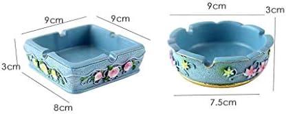 葉巻灰皿, AshtrayCreativeホームガーデン風の樹脂レトロリビングルームリビングルームホームアクセサリー(カラー:B)、色: (Color : A)