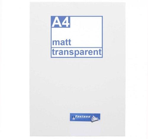 Klebefolie 10 X Din A4 Transparent Matt Druckerfolie Klebend Zum
