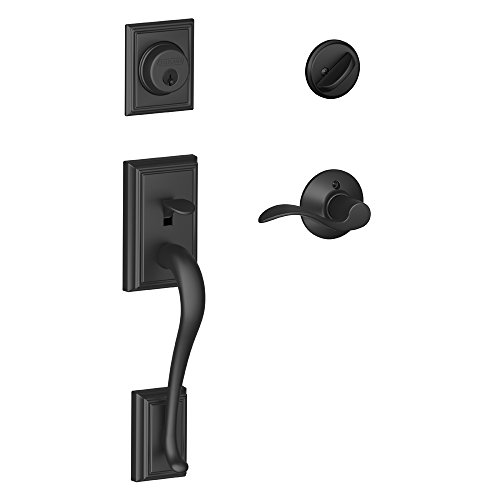 Addison Single Lever - Addison Single Cylinder Handleset and Right Hand Accent Lever, Matte Black (F60 ADD 622 ACC RH)