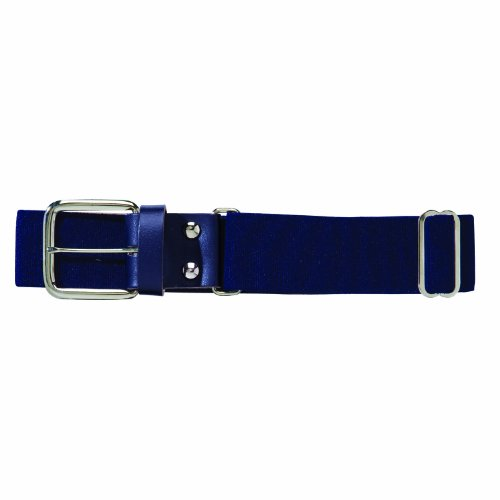 Franklin Sports Youth Baseball and Softball Belt - MLB Leather Belt - Navy