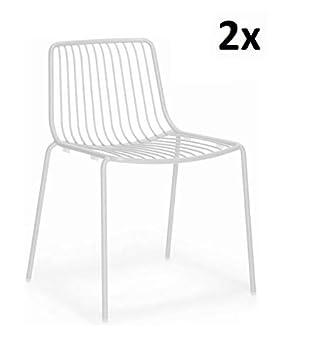 Pedrali Nolita 3651 Stuhl Weiss 2er Set Stuhl Ohne Armlehnen Zum