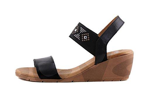 Amelie 304 - Zapato Señora Piel - 35, Negro