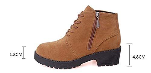 Stringati Laterale Stivaletti Scarpe Retro Con Party Boots Cerniera Eu Sed E 35 nTCwIqw