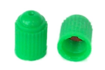 Green Valve Stem Caps - SKU 701 - 1,000 Pak Nitrogen Valve Stem Caps - Green Plastic - With Silicone Inner Seal