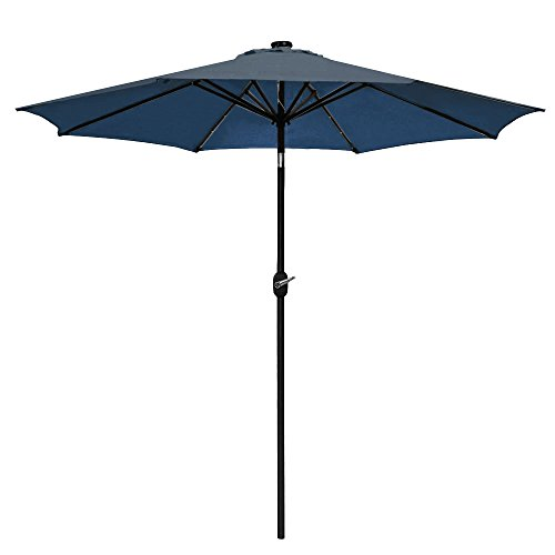 Blue Led Umbrella: Odaof 10 Ft. Led Light, Outdoor, Table, Aluminum Patio
